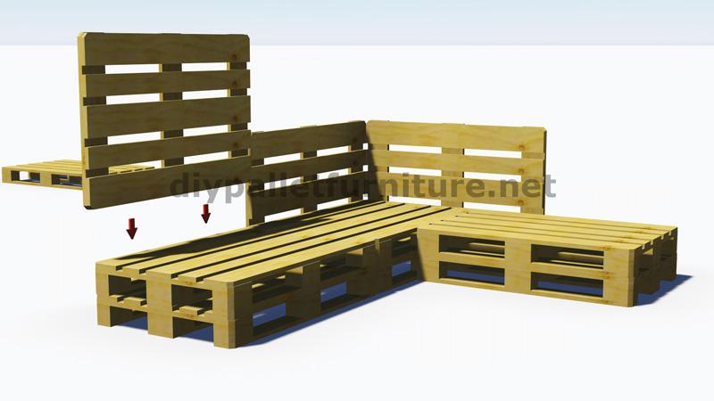 Istruzioni e progetti 3D di come fare un divano per il giardino con i ...