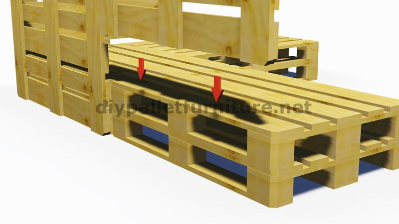 Istruzioni e progetti 3d di come fare un divano per il giardino con i palletmobili con pallet - Canape jardin palette ...