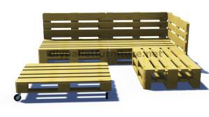Istruzioni e progetti 3D di come fare un divano per il giardino con i pallet 7