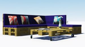 Istruzioni e progetti 3D di come fare un divano per il giardino con i pallet 9