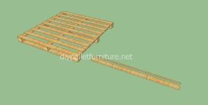 Pavimenti semplice realizzato con pallet di legno2