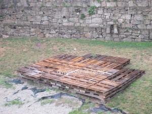 Pavimenti semplice realizzato con pallet di legno7