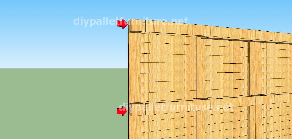 Piani e video di come fare una casa con i pallet 2 di 3 for I piani di casa