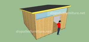 Piani e video di come fare una casa con i pallet ( 3 di 3) 12
