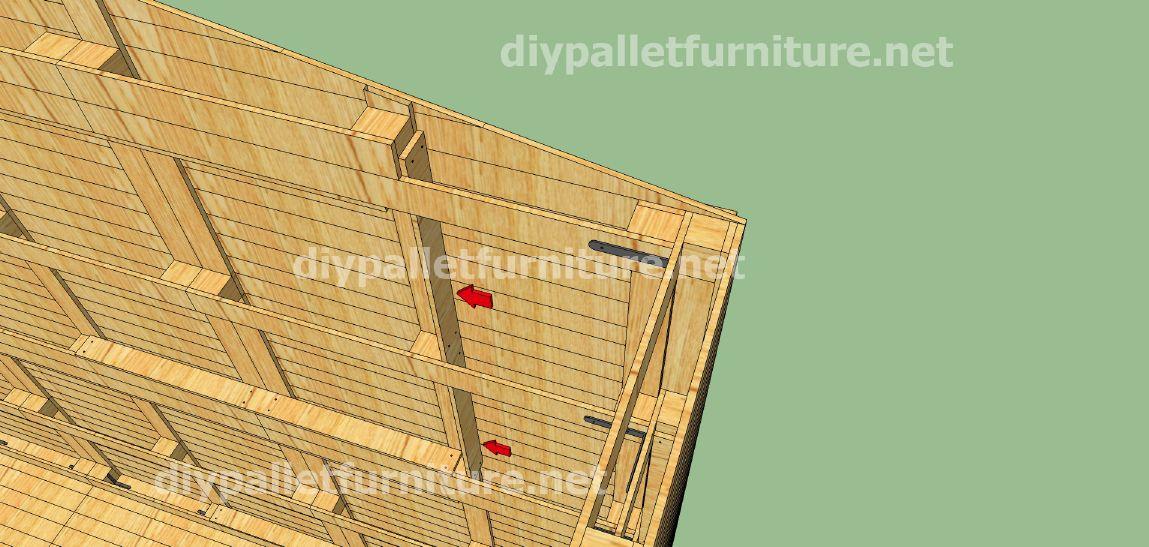 Piani e video di come fare una casa con i pallet 3 di 3 for Piani di casa con portici posteriori