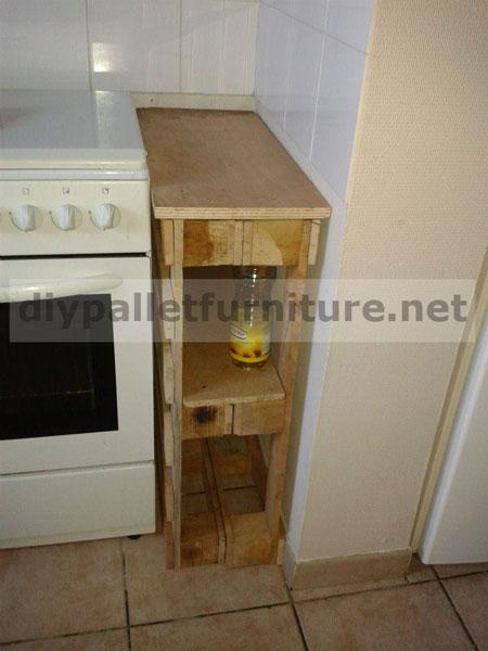armadio da cucina realizzato con pallet