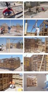 Case auto-costruito popolari con pallet di legno 5