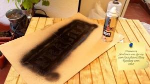Effettuare stampe sul vostro mobili pallet con vernice spray 6