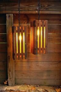 IInstructions di come fare una lampada con pallet di legno