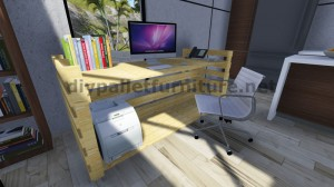 Incredibile scrivania con 2 pallets
