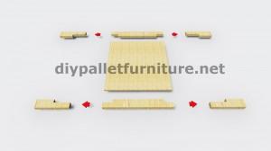 Istruzioni e disegni 3D di come fare una fioriera con i pallet 6