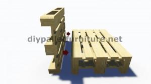 Istruzioni passo passo e piani su come realizzare un divano con pallet facilmente 4