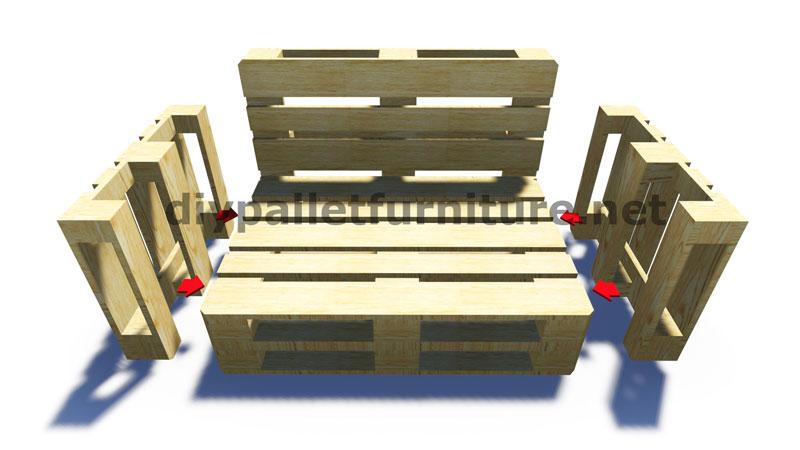 Istruzioni passo passo e piani su come realizzare un divano con pallet facilmentemobili con - Divano pallet istruzioni ...