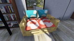 Istruzioni passo passo e piani su come realizzare un divano con pallet facilmente 9