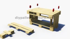 Istruzioni passo passo su come fare un tavolo con 3 pallet 7
