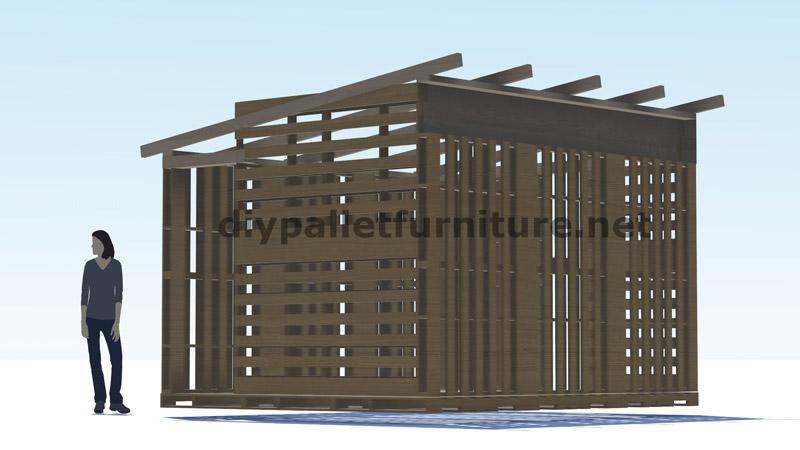 Piani 3d per la costruzione di una cabina o un negozio con for Piani di cabina 32x32
