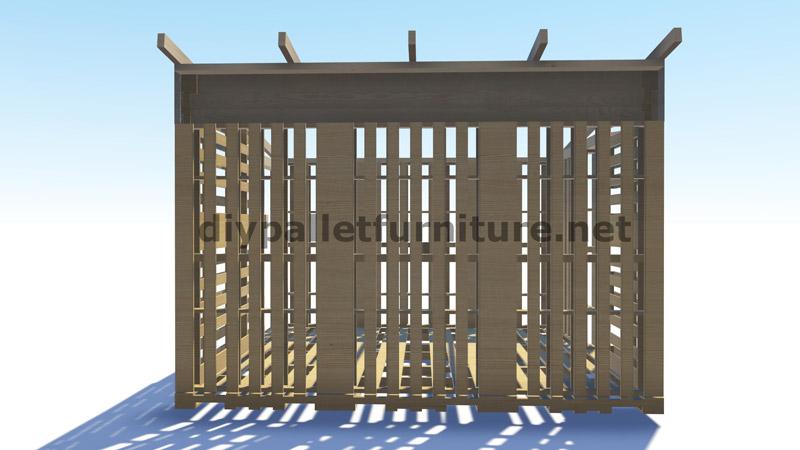 Piani 3d per la costruzione di una cabina o un negozio con for Piani di cabina rustici