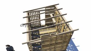 Piani 3D per la costruzione di una cabina o un negozio con pallet 5