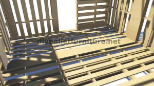 Piani 3D per la costruzione di una cabina o un negozio con pallet 6