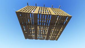Piani 3D per la costruzione di una cabina o un negozio con pallet 7