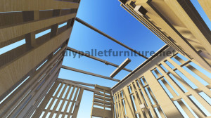 Piani 3D per la costruzione di una cabina o un negozio con pallet 8