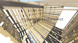 Piani 3D per la costruzione di una cabina o un negozio con pallet 9