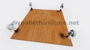 Piani e istruzioni su come costruire una tavoli con le cassette di frutta 2