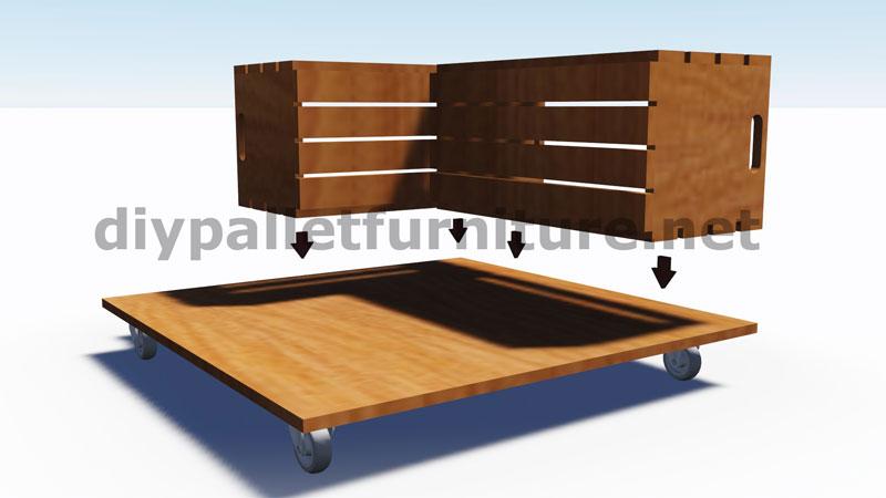 Piani e istruzioni su come costruire una tavoli con le for Mesa con cajas de fruta