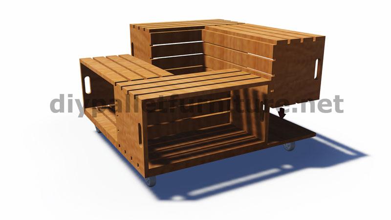 Piani e istruzioni su come costruire una tavoli con le cassette di fruttamobili con pallet - Mobili con cassette frutta ...