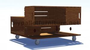 Piani e istruzioni su come costruire una tavoli con le cassette di frutta 5