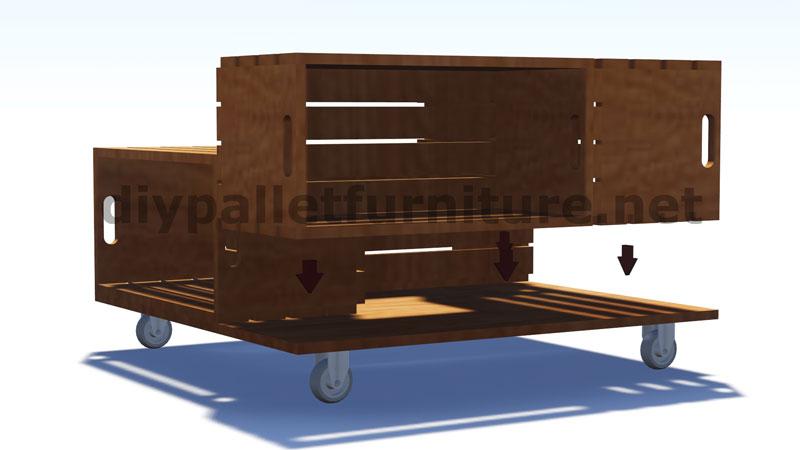 Piani e istruzioni su come costruire una tavoli con le for Tavolino con cassette