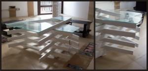 Tavoli design realizzato con assi di pallet 2