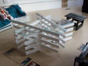 Tavoli design realizzato con assi di pallet