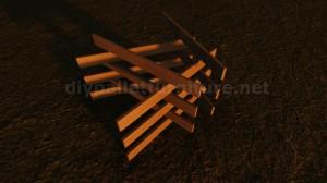 Tavoli design realizzato con assi di pallet 7