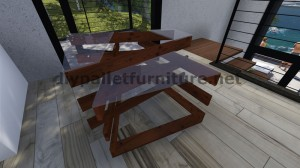Tavoli design realizzato con assi di pallet 8