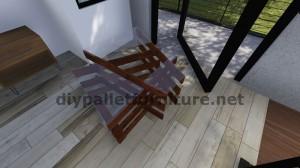Tavoli design realizzato con assi di pallet 9