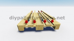 Tavoli galleggiante con i pallet 6