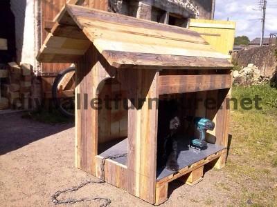 Casa del cane di Manou con pallet 4