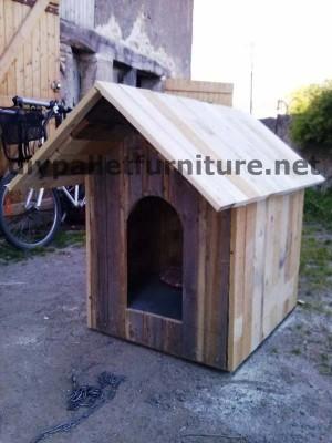Casa del cane di Manou con pallet 5