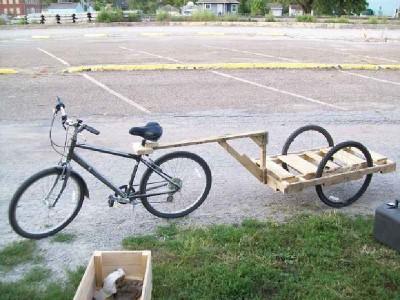 Come fare un rimorchio pallet per una bicicletta