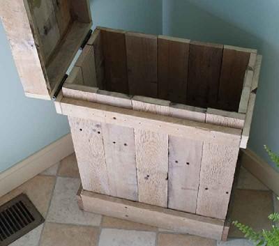 Come fare un tavolino e una scatola decorativa con i pallet2