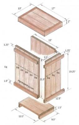 Come fare un tavolino e una scatola decorativa con i pallet5
