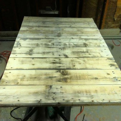 Fare un tavolo con solo legname per paletti 3
