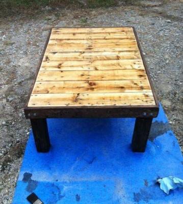 Fare un tavolo con solo legname per paletti 5