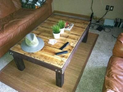 Fare un tavolo con solo legname per paletti 6
