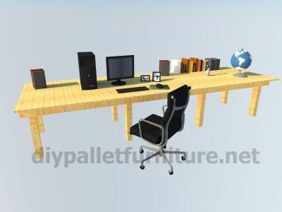 I piani e le istruzioni su come fare una scrivania con pallet 9