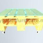 Kit mobili da giardino: un tavolo con un solo Europalet