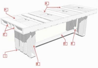 le istruzioni su come fare una tavoli con pallet per la sala da pranzomobili con pallet mobili. Black Bedroom Furniture Sets. Home Design Ideas