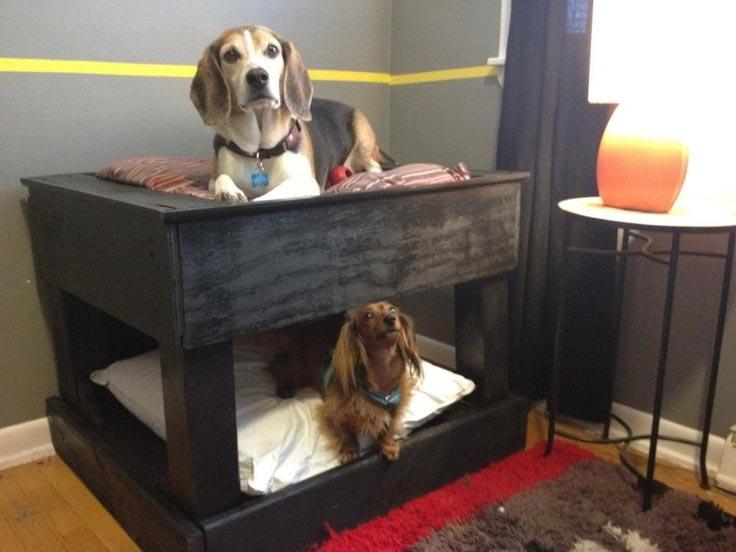Amato Letto a castello per cani realizzati con pallet!Mobili con Pallet  ZH56