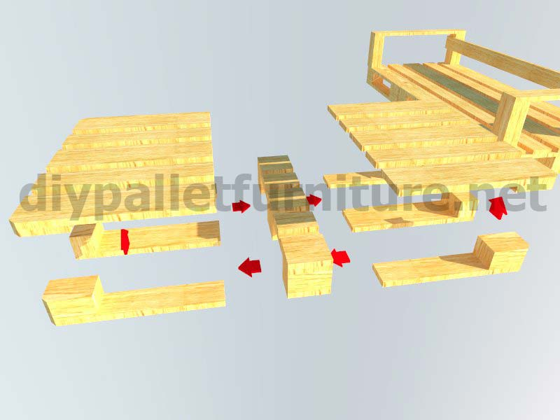 Kit mobili da giardino: divano esterno con palletMobili con Pallet ...